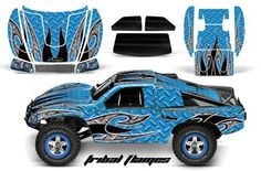 Traxxas Slash/Slayer 4X4 Graphics Kit 1/10-TRA6811-RC AMRRACING Decal Kit-Tribal Flames-Blue by AMRRACING. Save 20 Off!. $39.95. 98% Body coverage. AMR RC Kits very Easy to install.. AMR Racing RC kits are made from Thick Motocross quality vinyl. Listing includes graphics kit only, body not included.. Graphics kit it new in sealed manufactures packing.. AMR Racing RC kits are made from Thick Motocross quality vinyl.  Please don't confuse these with cheap, paper thin kits manufactu...