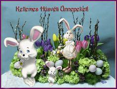 Kellemes Húsvéti ünnepeket szeretteimnek! Just Magic, Easter, Christmas Ornaments, Holiday Decor, Cards, Easter Activities, Christmas Jewelry, Maps, Christmas Decorations