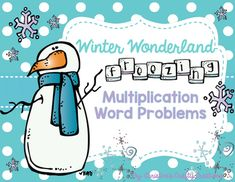28 multiplication word problems for the winter season.-Great for differentiated groups, math centers, whole class lessons, or independent practice.-Answer key and student work sheet included.-I have also created fall multiplication word problems if you are interested!Fall Multiplication Word Problem...