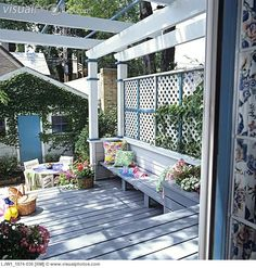 deck garden trellis - Google Search
