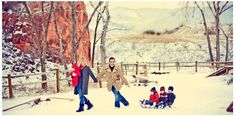 great winter family photo. Right out of an Andy Williams Christmas Special. Does ya good!