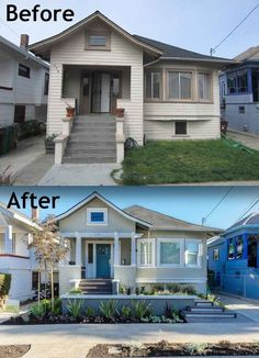 20 Home Exterior Makeover Before and After Ideas | Pinterest ... Craftsman Exterior House Design El E A on