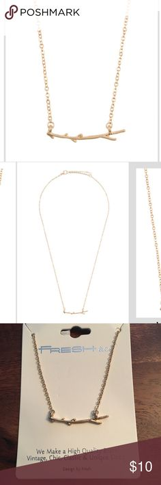 Twig pendant necklace (1 left) Gold twig dainty necklace. New just in! Jewelry Necklaces
