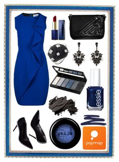 """Popmap #20"" by amra-sarajlic ❤ liked on Polyvore featuring Haffke, Stila, Estée Lauder, By Terry, Essie, Isadora and Bobbi Brown Cosmetics"