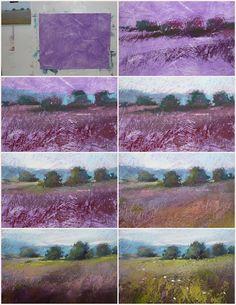 Painting my World: Pastel Demo...Landscape on Homemade Surface  Karen Margulis