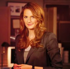 The stunning Stana Katic as Detective Katherine Beckett