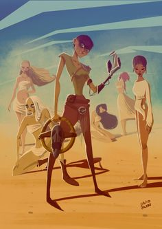 Imperator Furiosa & The Wives - Mad Max: Fury Road - David Pavon