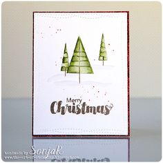 "Weihnachtskarte | Christmas card - Simon Says Stamp ""Christmas Graphic"", My Favorite Things ""Wonky Stitched Rectangles"", Schmincke Horadam Aquarellfarben"