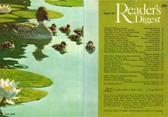 Reader's Digest front and back cover, August 1973 Illustration:Stanley W. Galli