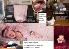 newborn photo session setup