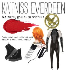 """Katniss Everdeen"" by sophiain02 ❤ liked on Polyvore"