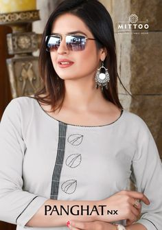 MITTOO PANGHAT NX PRINTED RAYON READYMADE KURTIS WITH PALAZZO AT WHOLESALE RATE Hand Embroidery Dress, Moda Chic, Kurti Neck Designs, Stylish Girl Images, Indian Suits, Indian Ethnic Wear, Indian Designer Wear, Muslim Women, Girls Image