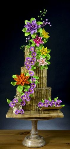 Bamboo and Flowers C