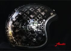 """Helmet """"la catrina"""" Vintage Used Look Silverleaf"""