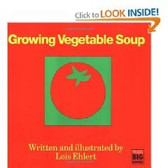 """We read the book """"Growing Vegetable Soup"""" in class. The kids seemed really excited about growing their own vegetable soup (which would be impossible given location and time left in the school year), so we are going to take a field trip to the local grocery store and pick out all of the vegetables from the recipe. The next day we will be making the soup from the recipe. Yummy and educational!"""