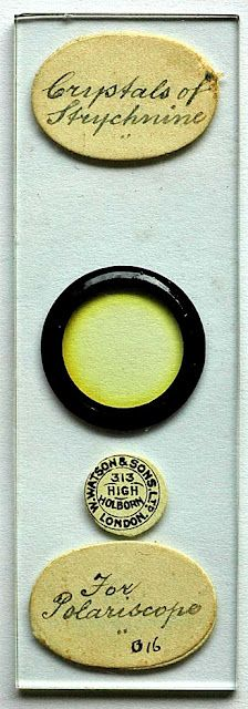 old microscope slide