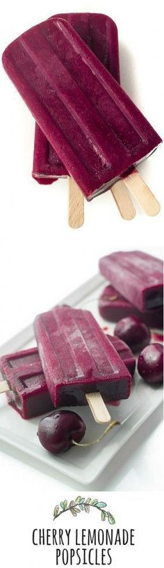 Stuff to try The flavor of these Cherry Lemonade Popsicles is pure, vibrant, fresh cherry with a touch of citrus — they're one of the joys of summer! Ice Cream Desserts, Frozen Desserts, Ice Cream Recipes, Frozen Treats, Cherry Recipes, Frozen Cake, Fruit Popsicles, Homemade Popsicles, Ice Cream Pops