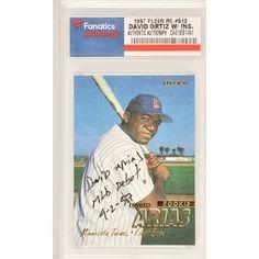 David Ortiz Minnesota Twins Autographed 1997 Fleer Rookie #512 Card with MLB Debut 9-2-97 Inscription - $479.99