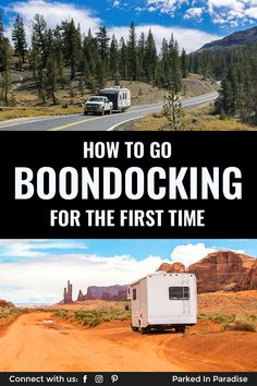 Everything You Need To Know To Go RV Boondocking - Full time rv campers share advice on living off-grid. How to find free campgrounds, water conservat - 5th Wheel Travel Trailers, Camping In Illinois, Mini Camper, Camping Photography, Forest Service, Van Camping, Water Conservation, Rv Campers, Van Life