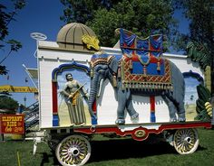 Circus parade wagon at Circus World Museum in Baraboo, the town in which five Ringling Brothers founded their circus, Baraboo, Wisconsin