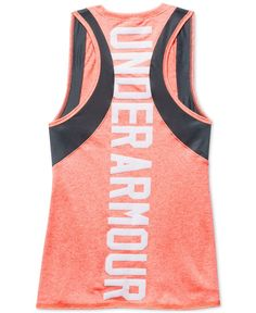 Under Armour outfits her to excel in this cool graphic-print tank top, designed with a natural feel to provide incredible all-day comfort. | Polyester | Machine washable | Imported | Crew neck  | Slee