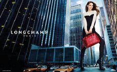 Coco Rocha en version très grande pour Longchamp. Les nouveaux sacs de la marque Fr