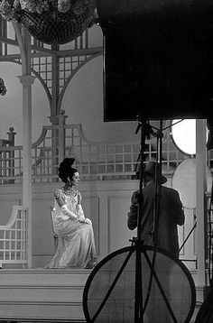 """Audrey Hepburn being photographed by Cecil Beaton for """"My Fair Lady"""", 1964 #actor"""