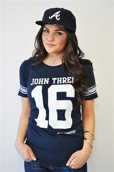 John 3:16 Christian T- Shirt Navy