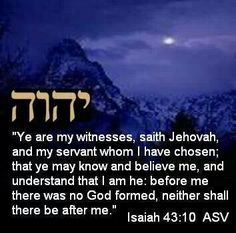 You are my Witnesses says Jehovah ...