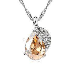 Sauvignon Blanc - Austrian Crystal Necklace (Golden Shadow)