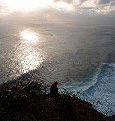 Lone Monkey Watching Sunset at Uluwatu, Bali via chickybus.com