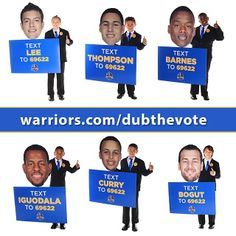 You already know you can Dub The Vote on Instagram, but did you know you can also vote via text message? The #KidWarriors show you the way. For a special message from the younger Dubs, and details on other ways to vote, visit warriors.com/DubTheVote.