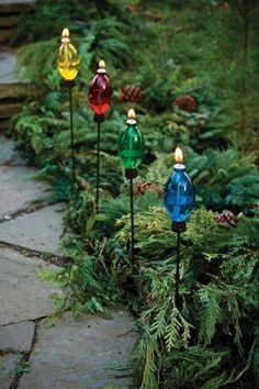christmas garden lights