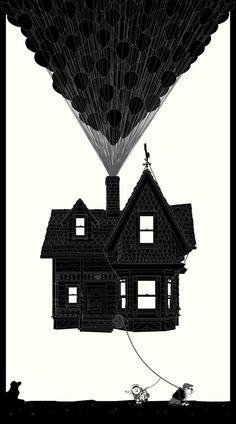 Up (2009) ~ Alternative Movie Poster by Bruce Yan #amusementphile