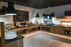 Bei unserer Frühstücksbuffet findet jeder etwas. Design Hotel, Corner Desk, Villa, Breakfast, Table, Furniture, Home Decor, Corner Table, Morning Coffee