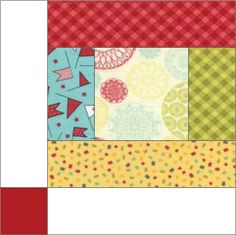 Scrappy Strips Block