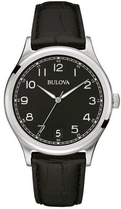 @bulova Watch Gents #bezel-fixed #bracelet-strap-leather #brand-bulova #case-depth-10-8mm #case-material-steel #case-width-40mm #date-yes #delivery-timescale-call-us #dial-colour-black #fashion #gender-mens #movement-quartz-battery #official-stockist-for-bulova-watches #packaging-bulova-watch-packaging #style-dress #subcat-classic #supplier-model-no-96b233 #warranty-bulova-official-3-year-guarantee #water-resistant-30m