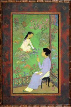 Artwork by Mai Thu, Femmes au jardin, Made of Limited luxury print