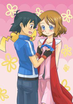 Satosere Ash y Serena ♥