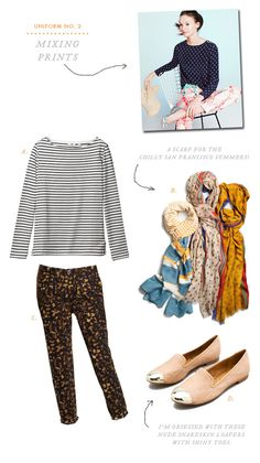 uniform-no.2 mixing prints via oh happy day