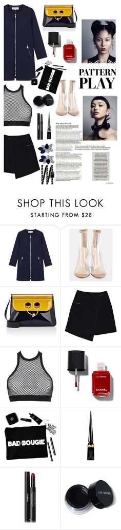 """""""It's a murder scene"""" by teleplath ❤ liked on Polyvore featuring Gérard Darel, J.W. Anderson, MARC CAIN, Dsquared2, Christian Louboutin, Chanel and Fantasia"""