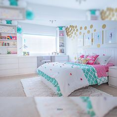 Interior Decorating Ideas Girls Bedroom Design Decor in Do you plan to redesign your girly bedroom? Blue Bedroom, Teen Bedroom, Bedroom Decor, Big Girl Bedrooms, Little Girl Rooms, Feminine Bedroom, Deco Kids, Girl Bedroom Designs, Bedroom Styles