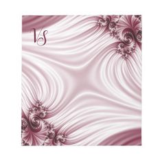 Notepad #notepad Pretty pink fractal. Silk imitation. Blurred area in the centre, where you can add your monogram. Click on the product to customize it. #customized #personalized #artwork #sale #giftideas #zazzle #zazzlemade #deals #gifts #light #pink #burgundy #bordeaux #darkred #fractal #classic #elegant #feminine #girly #silk #pretty #gentle #abstract #pattern #name #monogram #text #copyspace