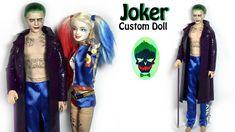 "J"" inspired Doll / Barbie Repaint (Suicide Squad) Diy Ooak Doll, Ooak Dolls, Barbie Dolls, Barbie Fairy, Doll Videos, Art Birthday, Doll Tutorial, Doll Repaint, Custom Dolls"