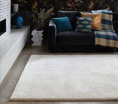 Fussboden Teppich Naturfaser Carpet 60 Wolle Design ARAN RUG Farben E103051