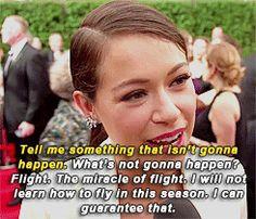 Tatiana Maslany at the 2015 Emmys about the new season of Orphan Black