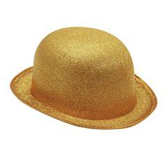 Chapeau Melon Or #chapeauxdéguisements #accessoiresdéguisements #accessoiresphotocall