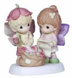 Precious Moments Girl and Boy with Bag of toys Figurine