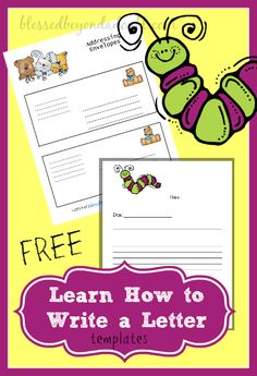 Teach your kiddos how to write a friendly letter with these FREE templates!