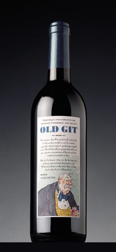 Old Git – humorous packaging for wine from 40 year-old vines – 32nd Mobius Awards Certificate for Outstanding Creativity